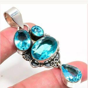 Jewelry - Sterling Blue London Topaz Pendant